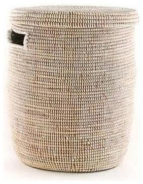 Senegalese Lidded Hampers- Natural - Craftsman - Baskets - Small Things After All