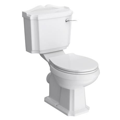 Oxford Close Coupled Traditional Toilet WC with Toilet Seat