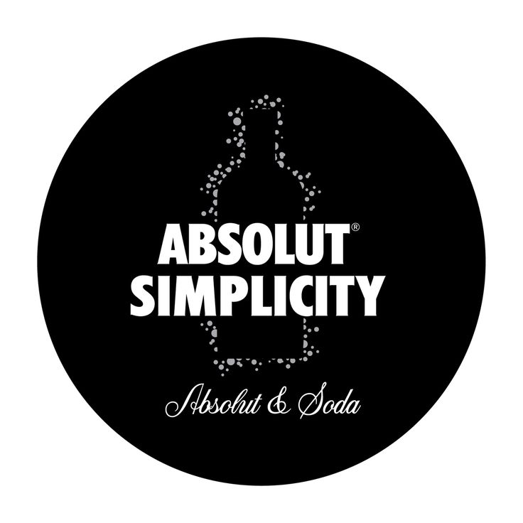 """As Leonardo Di Vinci once said """"Simplicity is the ultimate sophistication"""". This was top of my mind when developing branding for a programme aimed at striping away all non essential ingredients & putting the words 'ABSOLUT & SODA' on the tip of patrons tongues as apposed to the much more nonspecific 'Vodka & Soda'. Visually refreshing POS was developed to tantalise consumers and educational collateral was provided to bar staff to push 'less is more'."""