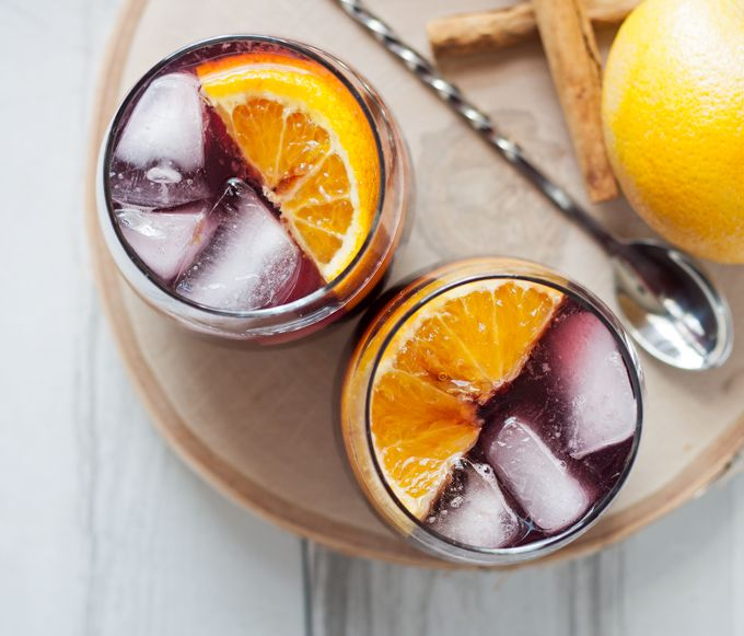 This orange red wine spritzer is a great cocktail for fall and winter ...