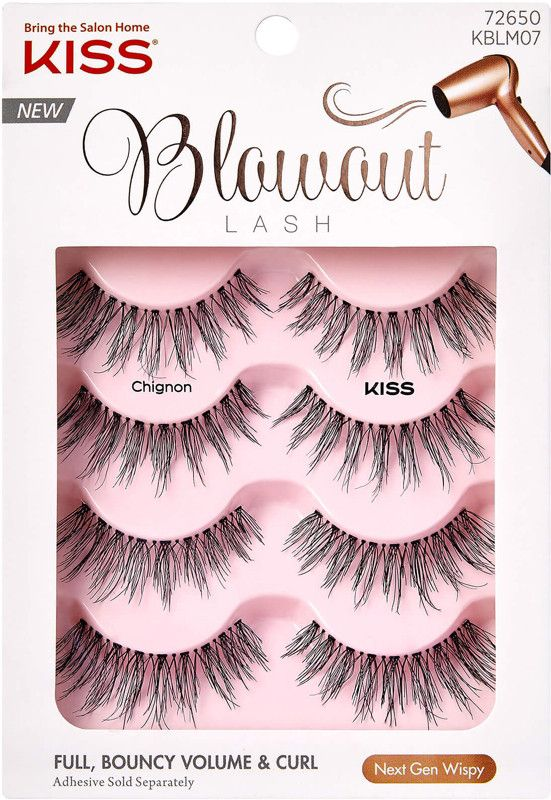 5da7eebee58 KISS Blowout Lash Multipack, Chignon - Nex-Gen Wispy. Build up your fringe  with subtle crisscross at the root that extends and flares.