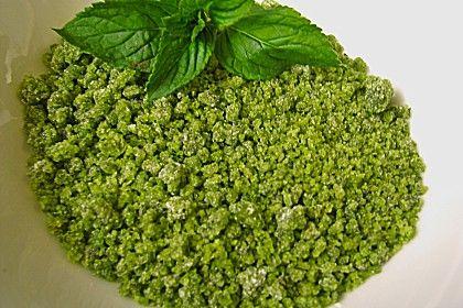 Grüner Pfefferminzzucker