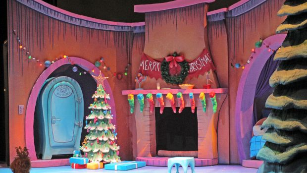 How the Grinch Stole Christmas. Children's Theater Company. Set design by Tom Butsch.