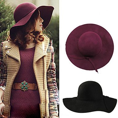 Gorgeous Women's Fashion Wool Tweed Hat, best for Autumn/Spring, but I bet it would look great on the beach too :)