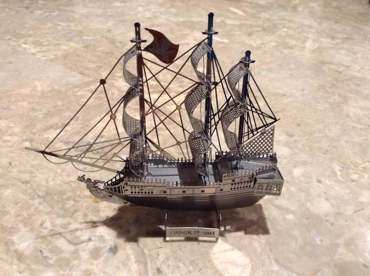 Black Pearl 3D steel model set built in 4 hours
