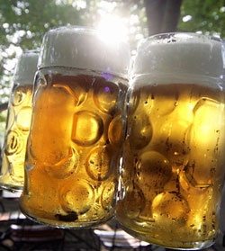 """One of the most important """"dishes in Munich"""" the one liter mug of fresh bavarian beer :)"""