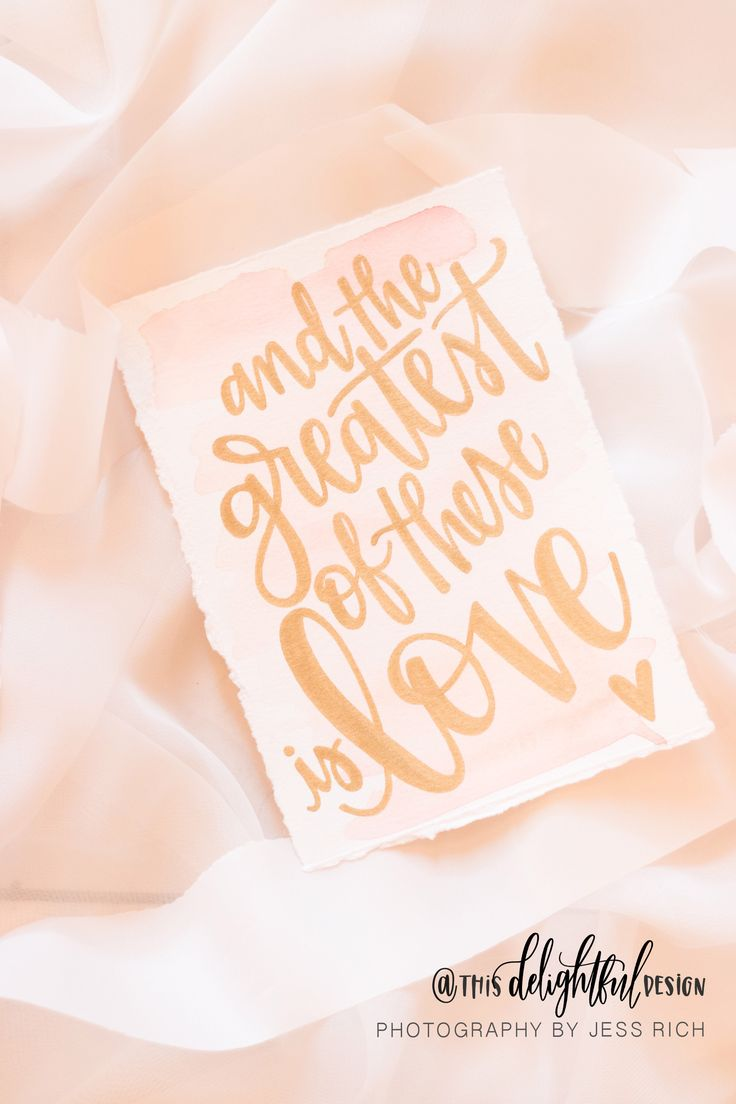 The greatest of these is Love | Wedding Suite | Custom Invitation | Wedding Stationary | Blush & Gold | Pink | Custom Wedding Gift | Wedding Decor | Home Decor | Signage | Sign | Inspiration || Watercolor | Quote | Inspirational || This Delightful Design by Katie Clark