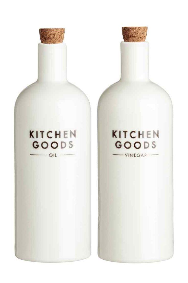 Balení: 2 porcelánové lahve - Bílá - HOME | H&M CZ