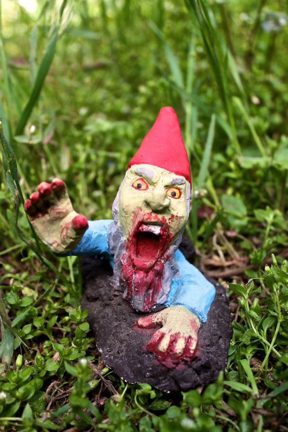 Gnome In Garden: 151 Best Zombie Gnomes Images On Pinterest