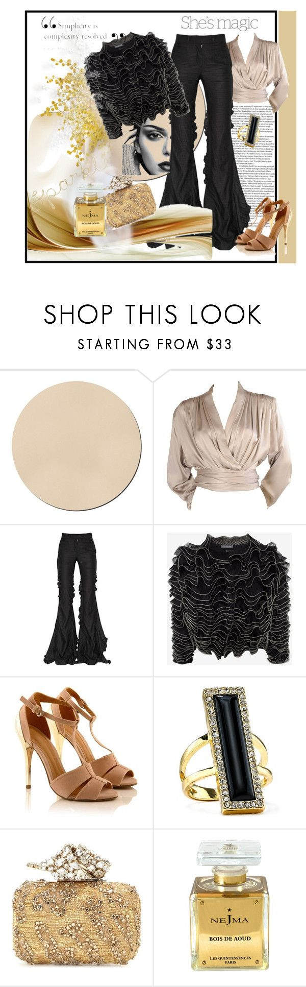"""Untitled #1012"" by talatay ❤ liked on Polyvore featuring WALL, Yves Saint Laurent, Marco de Vincenzo, Nicole, Alexander McQueen, House of Harlow 1960, Jimmy Choo and Nejma"