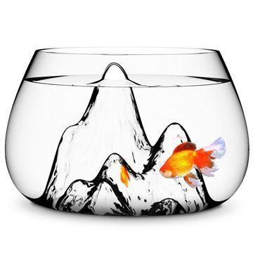 玻璃山水金魚缸