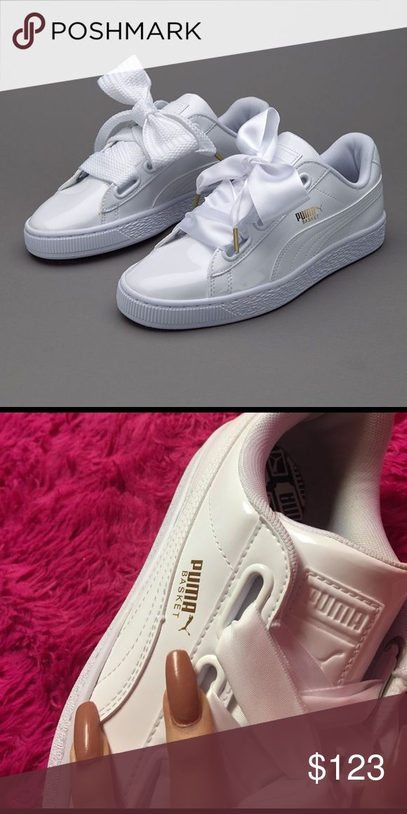Rihanna puma bow cute white sneakers Kylie Jenner New never worn comes with box Puma Shoes Sneakers