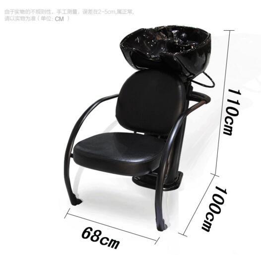 Assis chasse d'eau lit en céramique lavabo d'eau lit shampooing lit