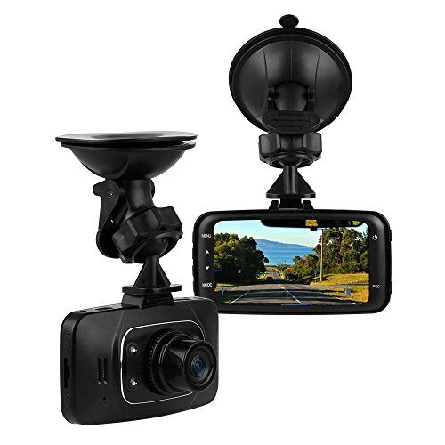 """On Dash Video Lecmal GS8000 Dash Cam for Cars with Night Vision / HD 1080P Car Dash Cam / 2.7"""" 120 Degree HDMI Car Camcorder with G-Sensor and Motion Detection Supporting TF Card (Up to 32 GB)"""