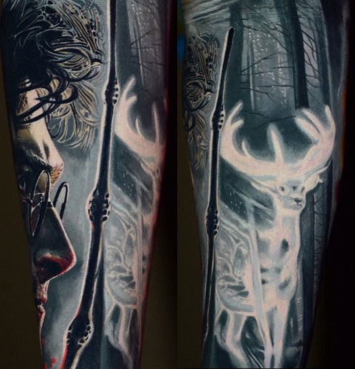 Harry Potter Tattoo Harry Potter Tattoo Sleeve Sleeve Tattoos Harry Potter Tattoo