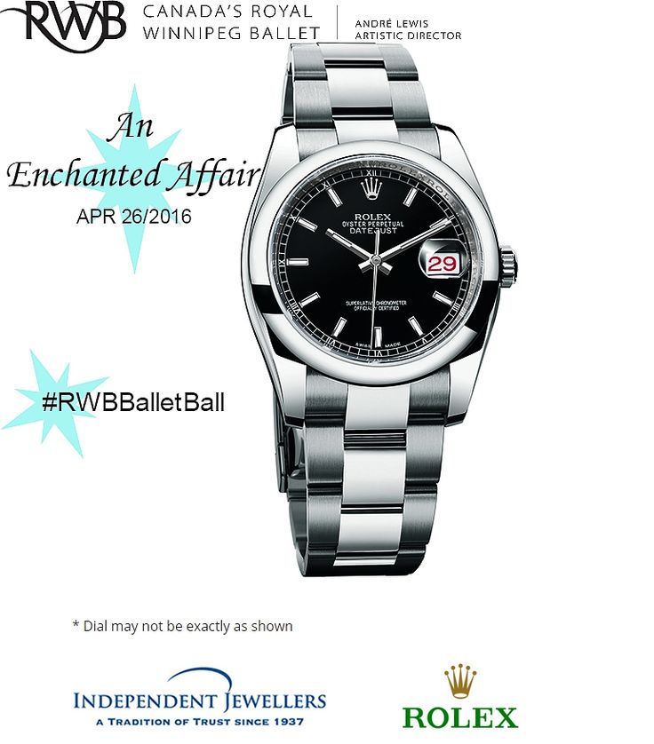 Enter the Grand Prize Draw to have a chance at winning this beautiful Men's Rolex Oyster Datejust II watch with Blue dial & stainless steel bracelet at this years Ballet Ball #RWBBalletBall