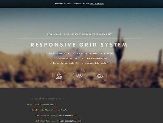 超シンプルで簡単なフレームワーク「Responsive Grid System」でレスポンシブWEBサイトをつくろう01