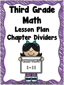 Third Grade Go Math Lesson Plan DividersThird Grade Teachers, Do you need help organizing your GO Math Lesson Plans? * *This product contains 16 binder divider pages to help keep your Third Grade GO Math Lesson Plans organized. * *4 Covers (My GO Math Lesson Plans, My Third Grade GO Math Lesson Plans)Chapter 1: Addition and Subtraction within 1,000 Chapter 2: Represent and Interpret Data Chapter 3: Understand MultiplicationChapter 4: Multiplication Facts and Strategies Chapter 5: Use…
