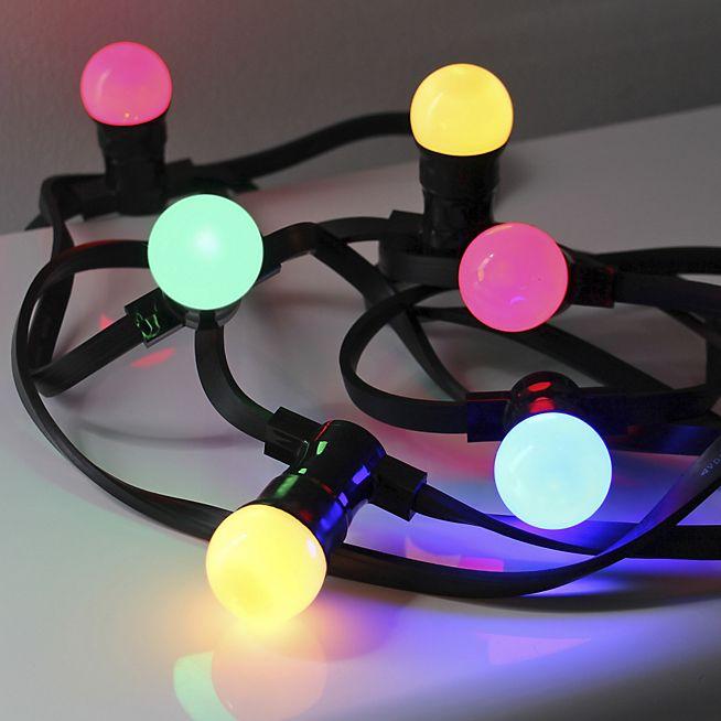 Guinguette Guirlande électrique d'extérieur à 10 LED multicolores L10m