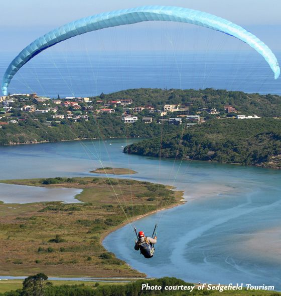 Sedgefield - Paragliding - on the Garden Route (section of the N2).......my favourite driving route in South Africa.