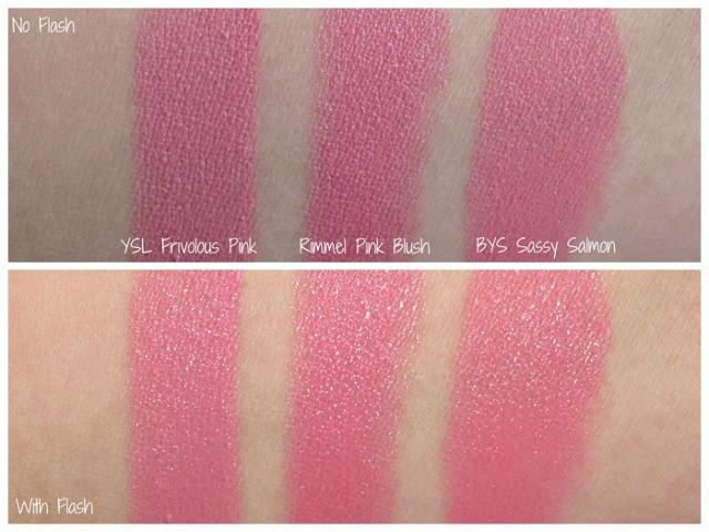 YSL Frivolous Pink vs Rimmel Pink Blush vs BYS Sassy