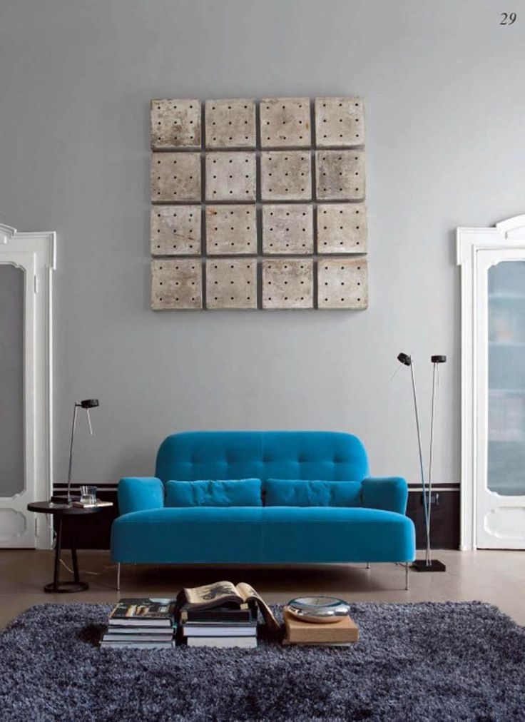 modern blue couch sofa design
