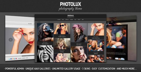 A powerful and elegant portfolio WP theme, it is best suited for photographers who want to showcase their works. Powered by Pexeto Panel, it provides tons of options without the need for codes to modify any aspect of the theme.