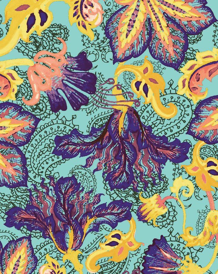 Lunelli Textil - Crayon Flower  www.lunelli.com.br