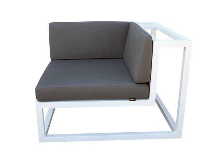 BRAZILIA Corner armchair by Sérénité Luxury Monaco design Laurent Chagnard, Maxime Dumarchey