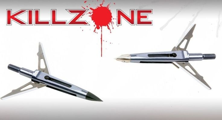 "NAP KillZone Broadheads 3 Pack 125Gr 2""Cutting Diameter made in usa"