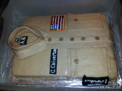 Shirt cake for cousin's graduation from the correction ...