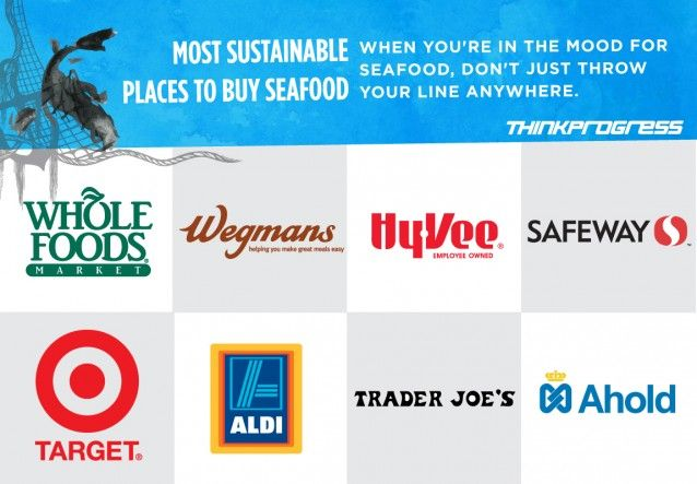 Are you interested in protecting the oceans but don't know where to start? Start here: Support these grocery store chains that sell sustainable seafood! According to Greenpeace's recent report, Publix and Kroger were among the worst retailers! Remember to ask where and how your seafood was caught. Read the full report here: http://seafood.greenpeaceusa.org/Carting-Away-the-Oceans-9.pdf