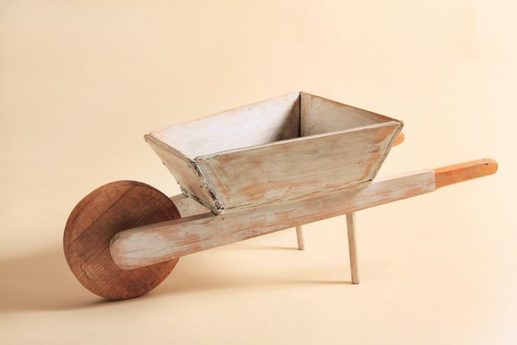 Carretilla madera