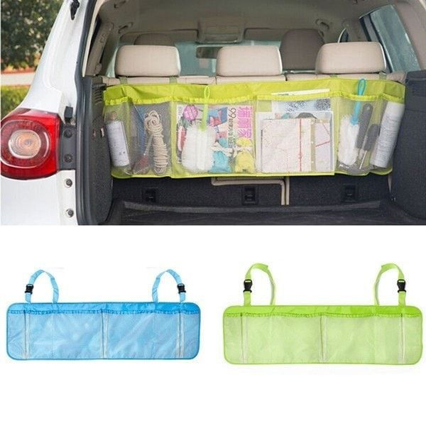 Car Back Seat Tidy Auto Travel Multi-Pocket Holder Pouch Storage Bag