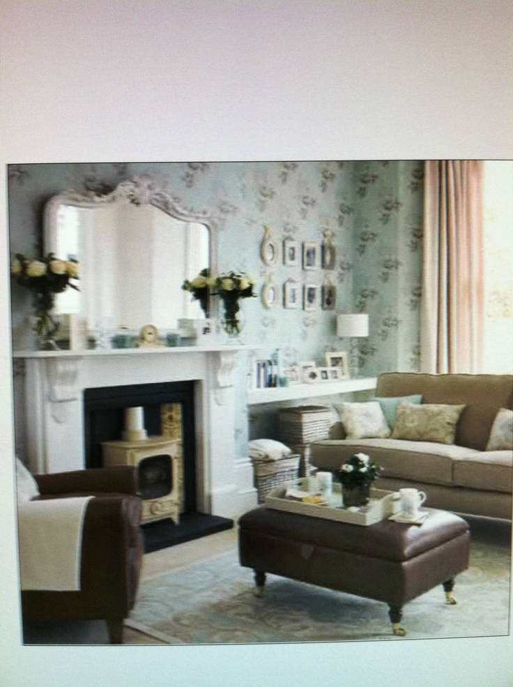 Cute cozy shabby chic living room for living room for Shabby living room