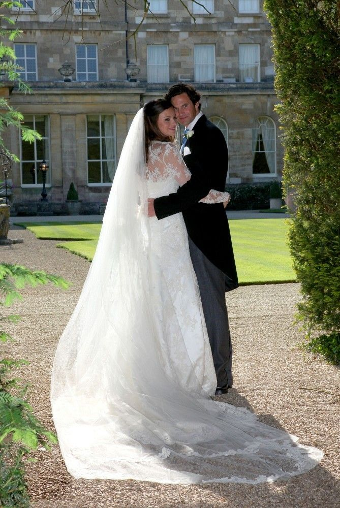The British society wedding of Rupert Finch, a former boyfriend of Kate Middleton while they were at University together, and Lady Natasha Rufus Isaacs. The couple who are good friends of the Duke and Duchess of Cambridge wed at St Johns Baptist Church in Cirencester before walking through the streets to Lady Natasha's family home.