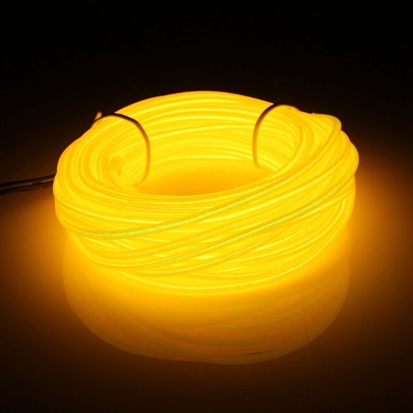 10M Flexible Neon LED Light Glow EL Wire String Strip Rope Tube Car Decor