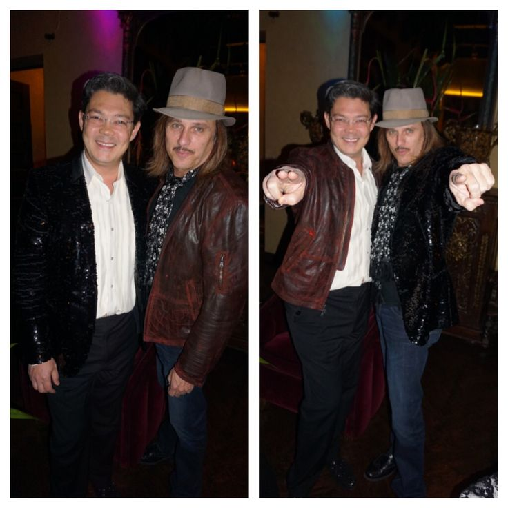 Had a great time switching outfits with Chris Pitman from Guns N. Roses at Sue Wong's NYE bash. Maybe I should start sporting the worn leather look. Thanks Joyce Chow for the fun photos! #gunsnroses