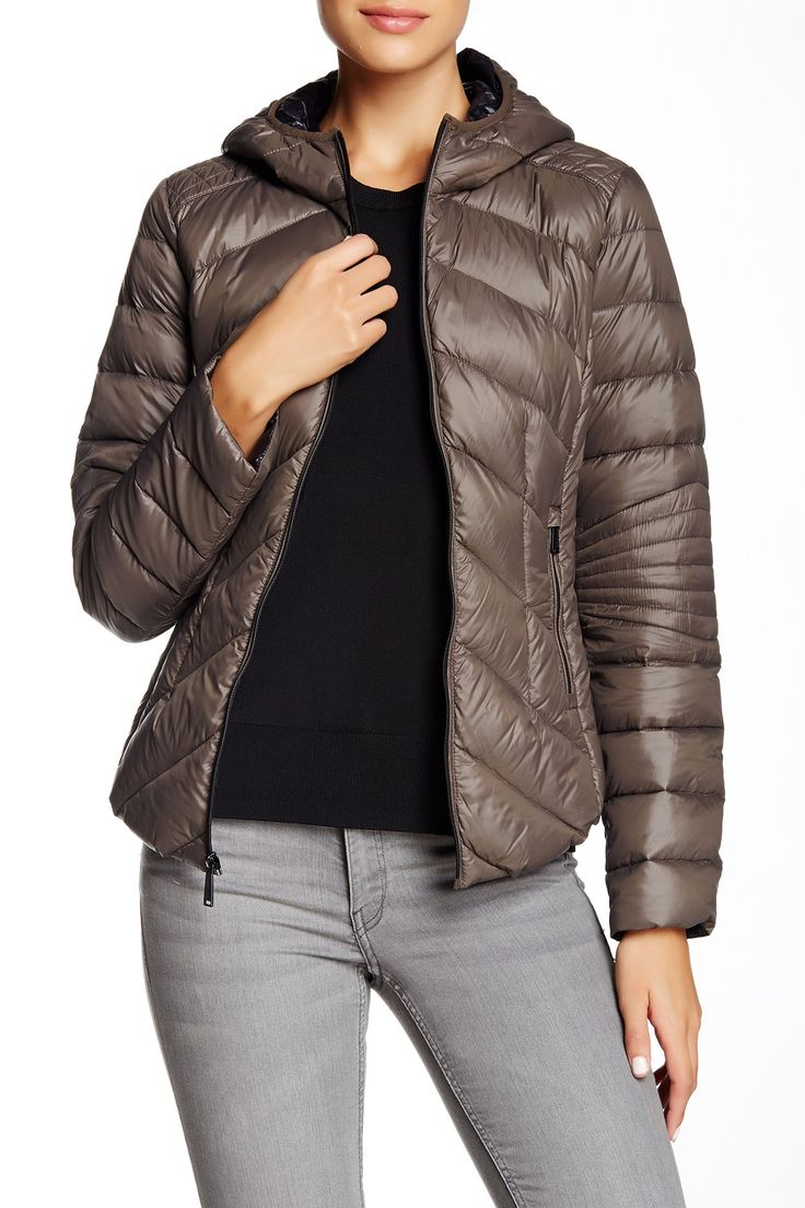 Missy Short Hooded Packable Jacket by BCBGeneration on @nordstrom_rack