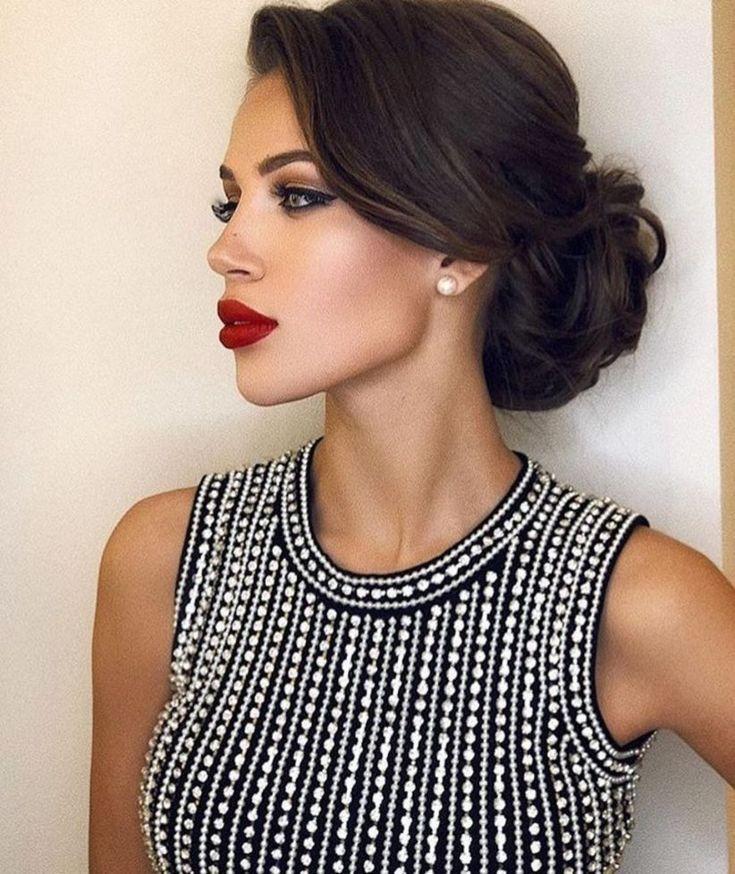 Elegant Hairstyles In 2020 Bridesmaid Hair Makeup Business Hairstyles Hair Styles