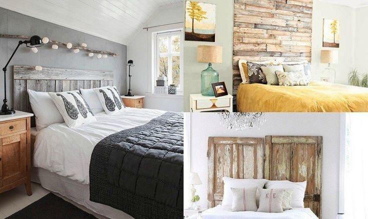 idées artistiques sur la tête de lit originale en bois de récupération