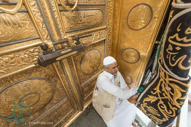 DesertRose,;,Fixing the kiswah cloth # kabah # Mecca,;,