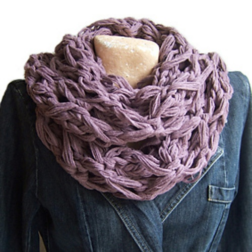 Made with Rico Loopy yarn - hope to make for myself one dayNeck Warmer