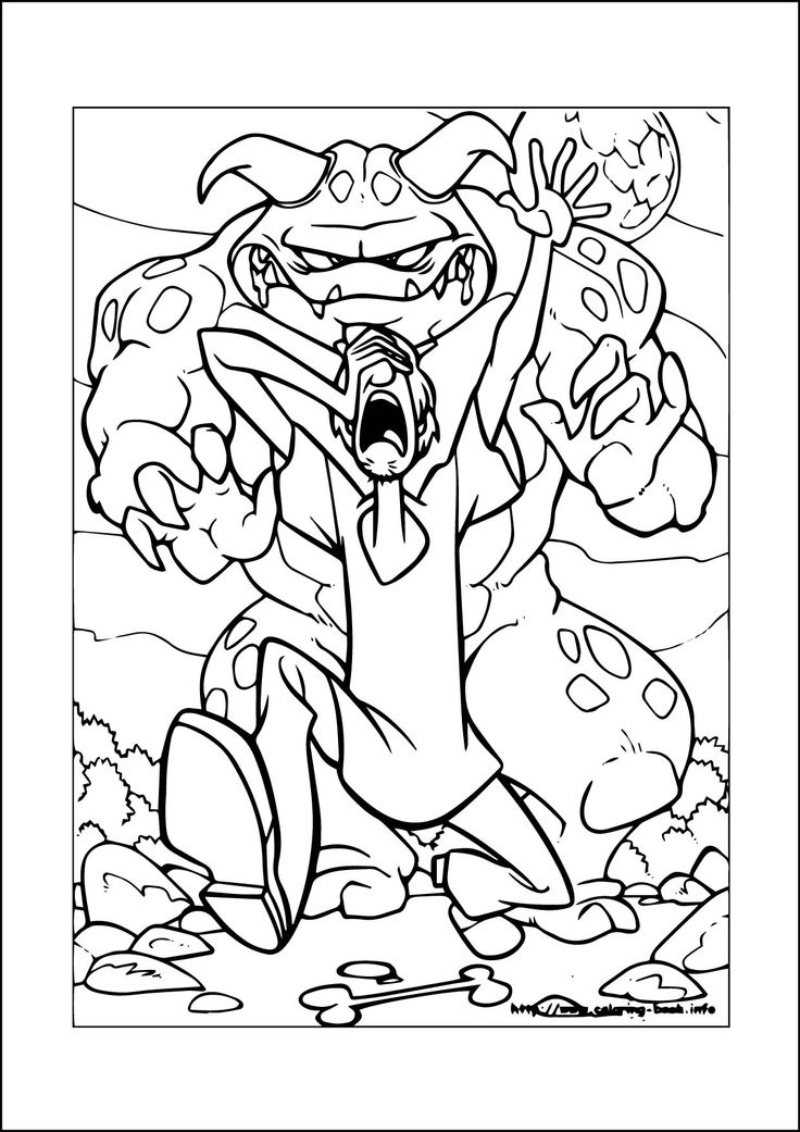 28 best Scooby Doo Coloring pages freec images on
