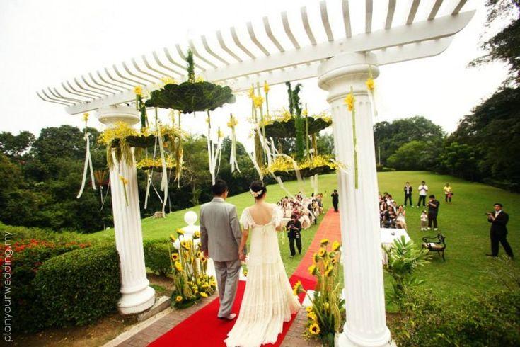 Chinese Outdoor Garden Wedding Reception
