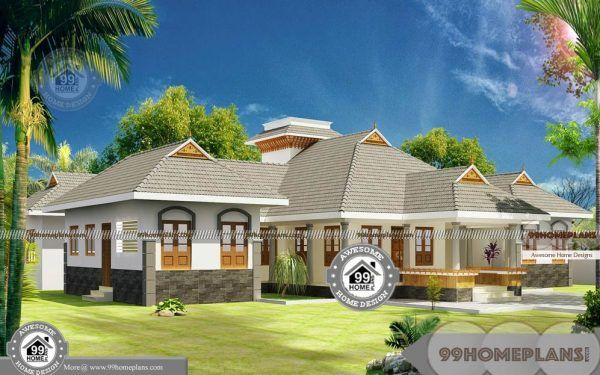 4 Bedroom House Plans One Story With Traditional Style Home Designs Courtyard House Plans Single Floor House Design Traditional House Plans