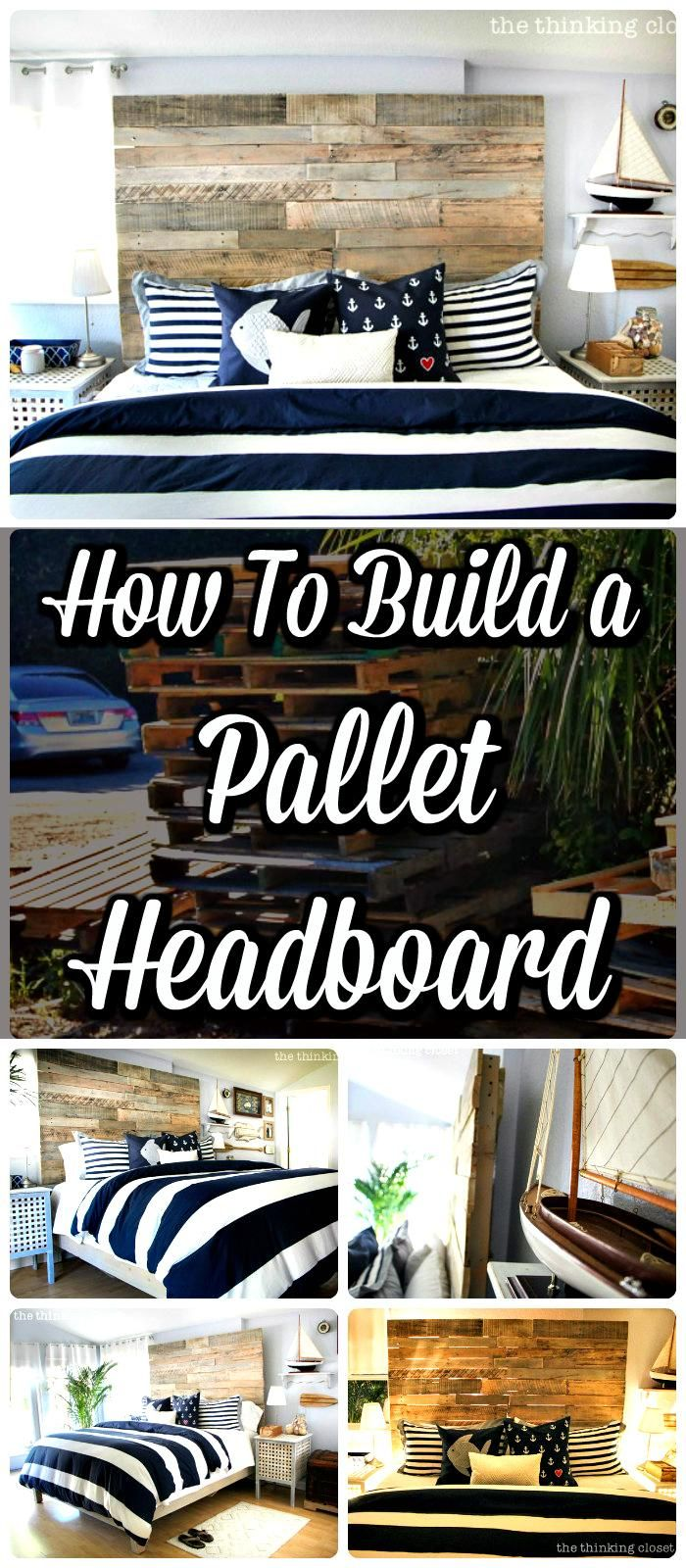 Rustic DIY Pallet Headboard Tutorial - 150 Best DIY Pallet Projects and Pallet Furniture Crafts - Page 26 of 75 - DIY & Crafts
