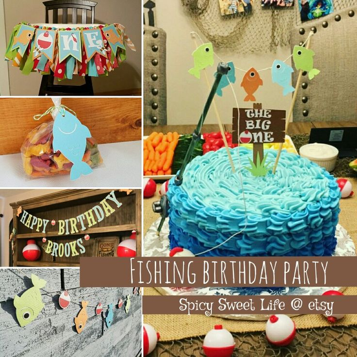 Fishing party decorations from spicy sweet life fishing for Fish party decorations