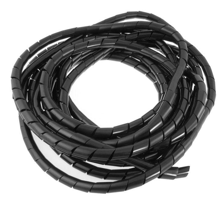 Buena Calidad 12mm Diámetro Exterior 22 Pies Pies de Alambre En Espiral Organizador Administrar Cord Wrap Tubo Flexible para PC Ordenador Hogar Ocultar Cable