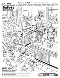 What do three smoke alarms, a baseball hat, and a fried-egg have in common? You can find them all in our new kitchen safety hidden picture.